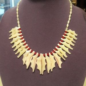 Shell with mother of pearl necklace